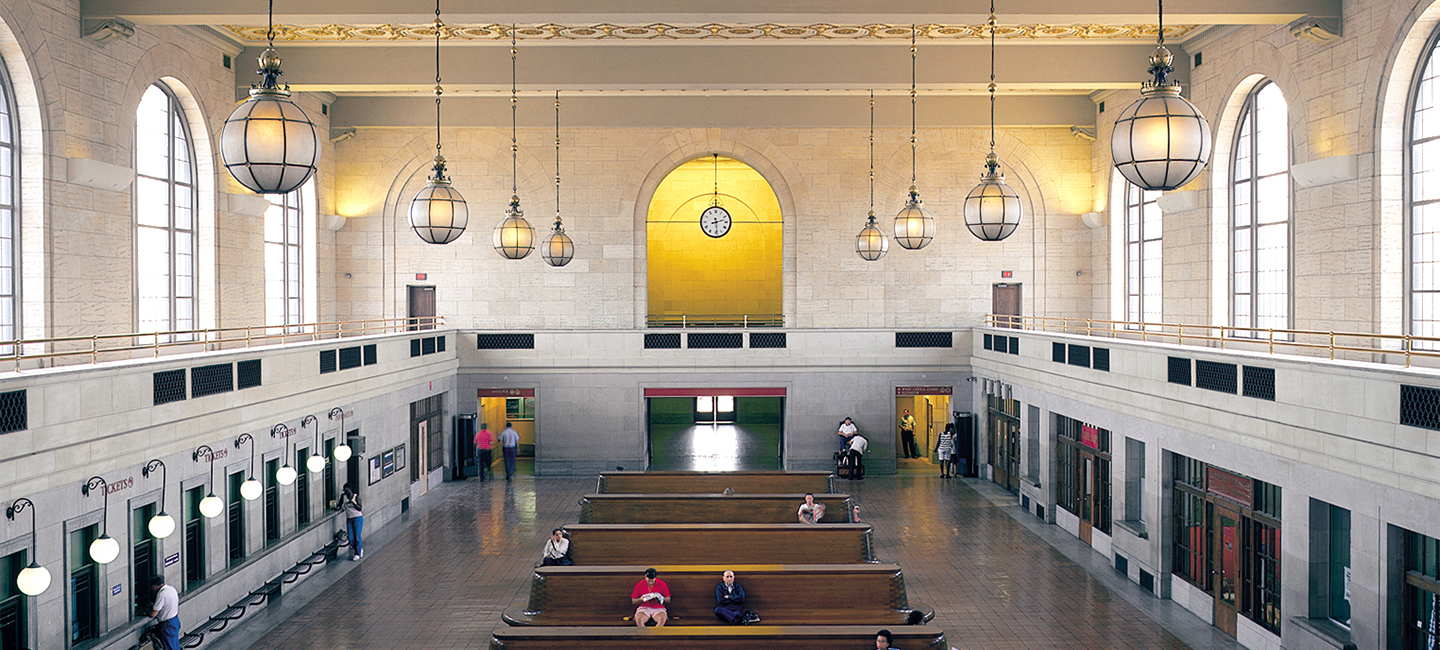 Masthead new haven union station Main